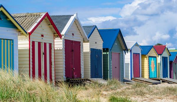Beach boxes, Edithvale, Australia