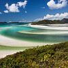 Whitehaven Beach and Swirling Sands from Hill Inlet