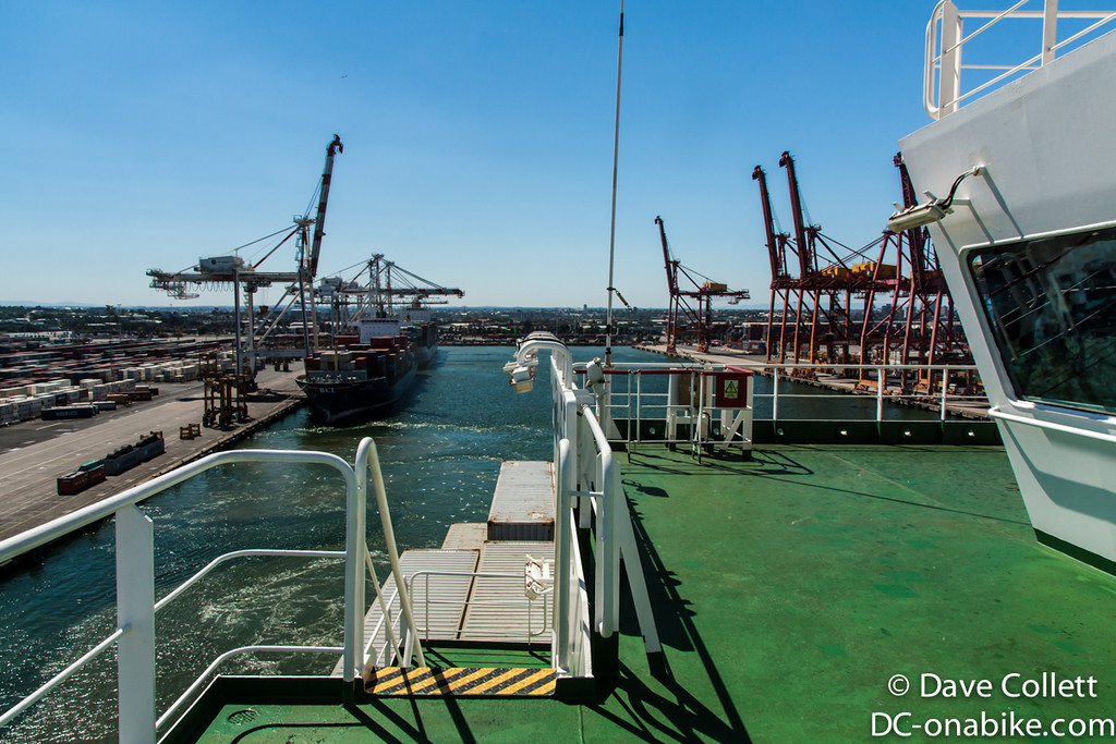 Pulling out of the berth