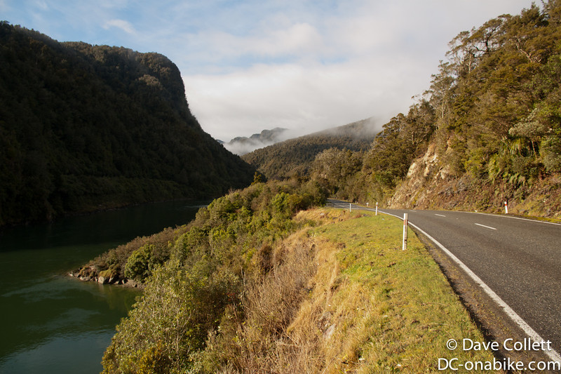 Heading up the Buller Gorge