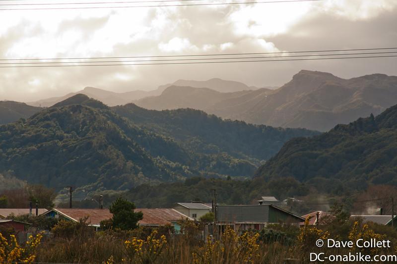 Hills behind Runanga- coal country