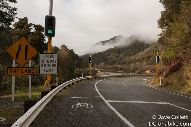 Some of the only traffic lights on the West Coast