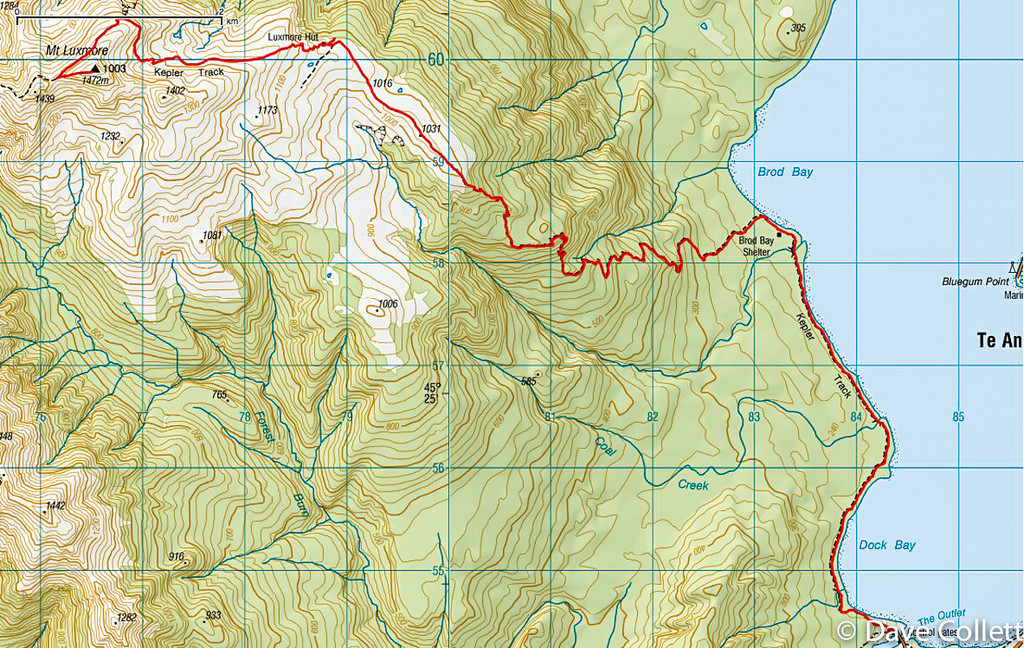 Mt Luxmore Map