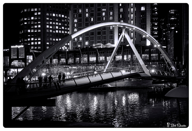 Pedestrian Bridge in Monochrome