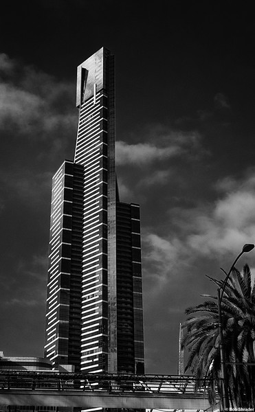 Eureka Tower in B&W