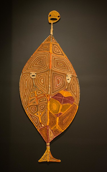 The NGV (National Gallery of Victoria) is housed on the plaza, and there were several rooms devoted to modern Aboriginal art,