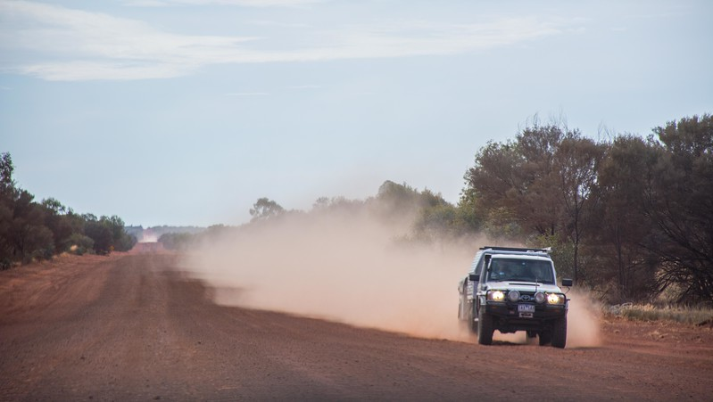 but in this location all we got was dust.  Heading east for Alice Springs, we were back on a dirt track again.