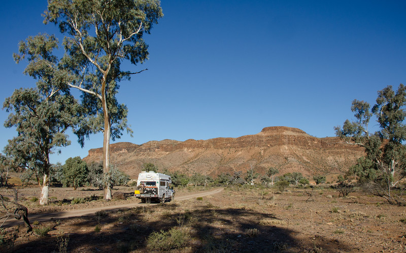 then located a great bush camping area.