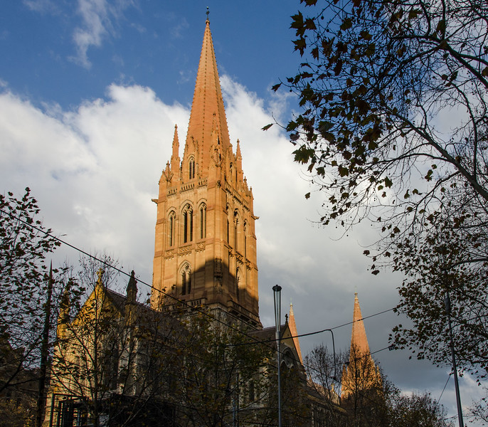 Back outside, the sun had come out and was decorating many of the steeples on the buildings...