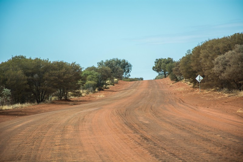 The road was quite rough in places; you can see the corrugations.