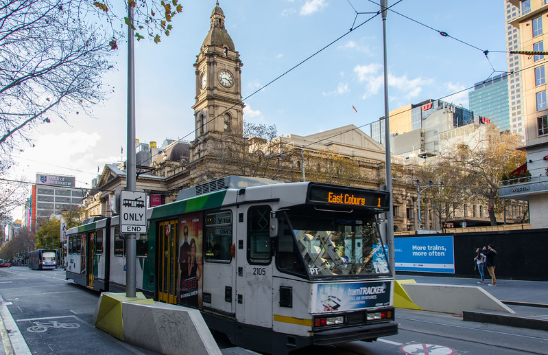 The Melbourne street scene.