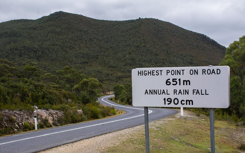 We headed further west, on out the Gordon River Rd, where it gets higher...and wetter!