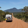 Our departure from Stirling Range was along this unpaved road, which took us ...