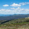 Atop Mt Buller, looking across the mountain range.