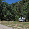 Reaching the end of the rocky river crossings, we pulled into this pretty bush camp,