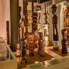 The museum also contains artifacts from other cultures; these are totems from the Tiwi Islands.