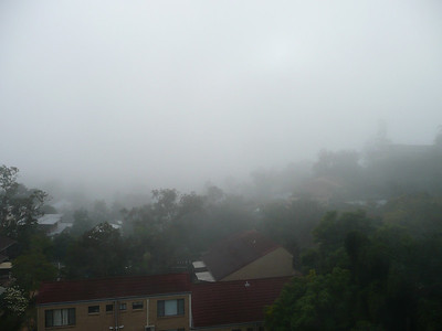 Heavy fog rolls in at 8am