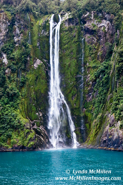Stirling Falls (155 meters/508 feet)  Milford Sound, Fiordland National Park, New Zealand
