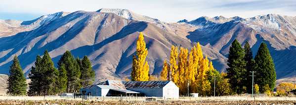 An old sheep ranch in the foothills outside Pukaki