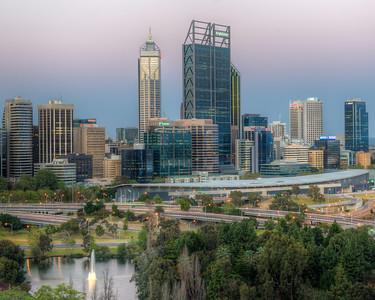 Cityscape  Of Perth, Australia