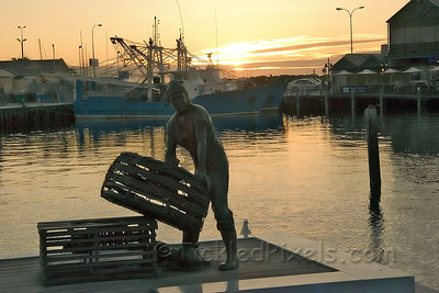 The Fishermen's Monument. Fremantle Harbour