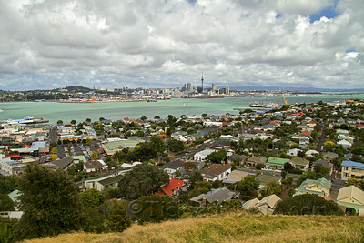 Waitemata Harbour and Auckland from Mount Victoria, Devonport