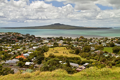 Rangitoto Island from Mount Victoria, Devonport