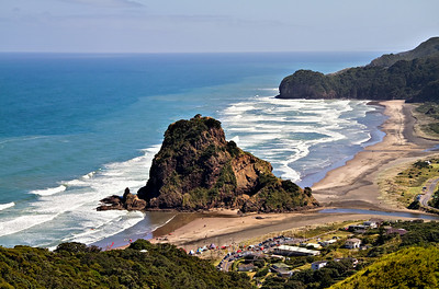 Piha Beach on the West Coast of New Zealand