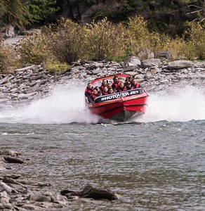 Jet Boat on the Shotover River, near Queenstown