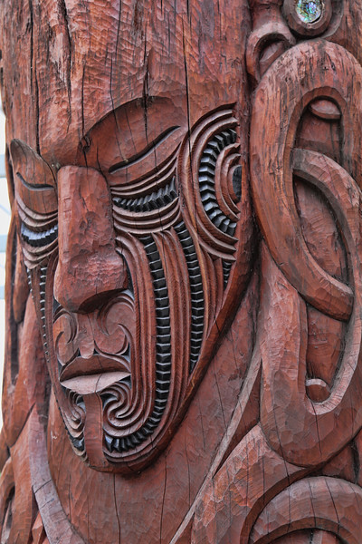 Beautiful Wood Carvings at Te Puia in Rotorua
