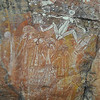 Close up of Barginjj, wife of Namarrgon, the other creation ancestor depicted in the prior photo. Rock art at Nourlangie area, Kakadu National Park, Australia