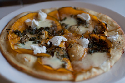 Pumpkin Pizza at Sam Miranda Winery. Yum!
