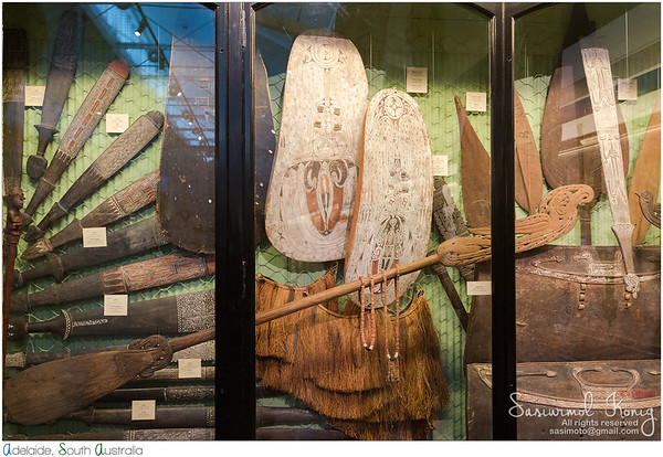Clubs, Shields, Staffs, Paddles and other artifacts from Papua New Guina
