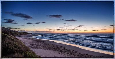 Lovely sunrise over the bass straight, Apollo bay, Great Ocean Rd.