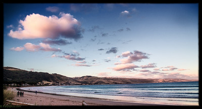 A lovely sunset on the beach at Apollo bay, great ocean road