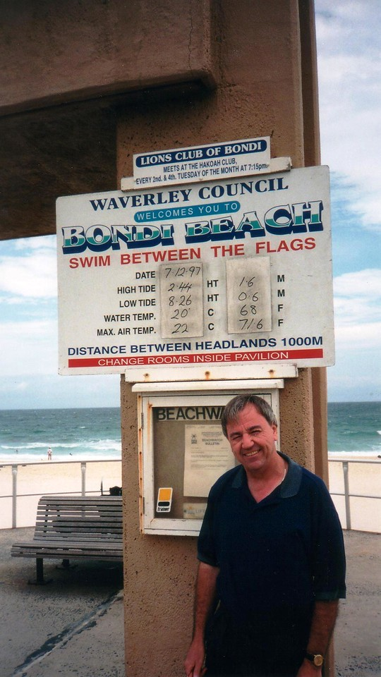 Bondi Beach 7/12/1997 conditions sign