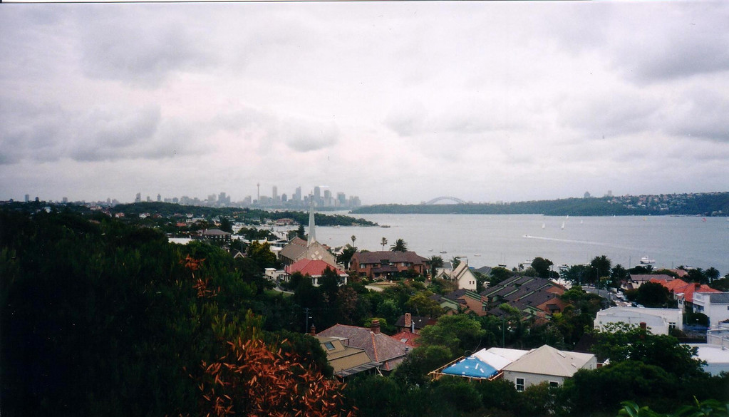 A Suburb's view to downtown and the arch of the Sydney Bridge - 1997