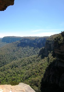 The view of the Blue Mountains