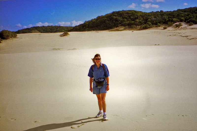 Robyn on the walk to Lake Wabby on Fraser Island