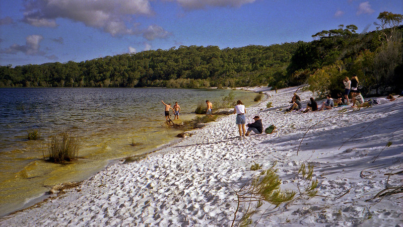 Silica sands at Lake Birrabeen. Great for cleaning jewelery.