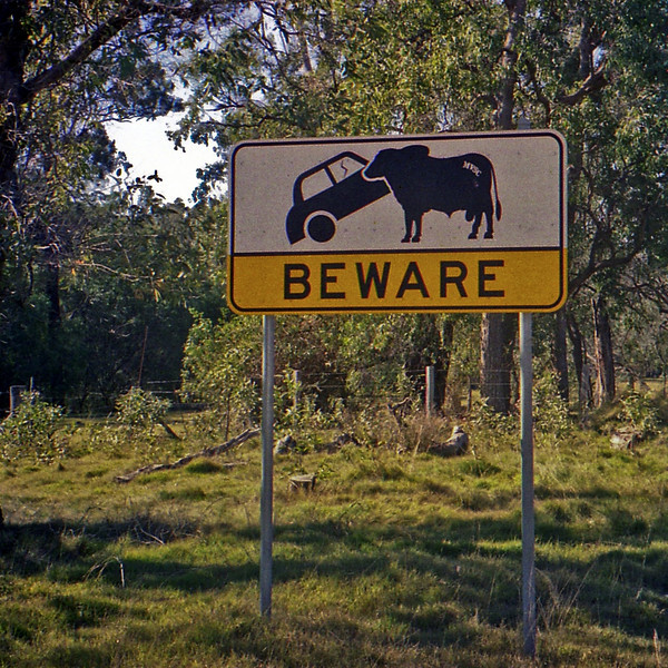 Road sign in Kalpowar Forest Park.