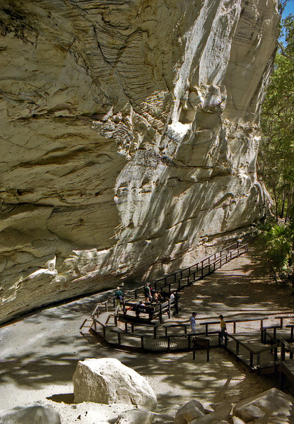 Cathedral Cave in the Carnavan Gorge. Another Aboriginal art site.