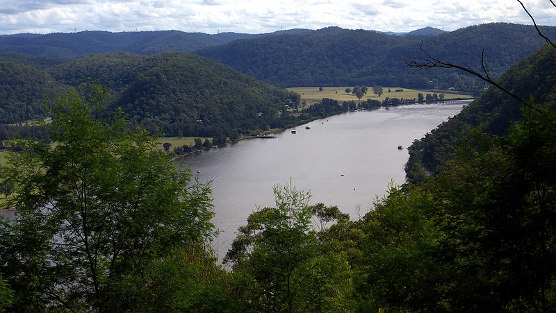 Hawkesbury River near Wisemans Ferry. We crossed the river on the ferry here on our way up the coast.