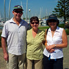 Mark, Karen and Robyn at Manly in Brisbane
