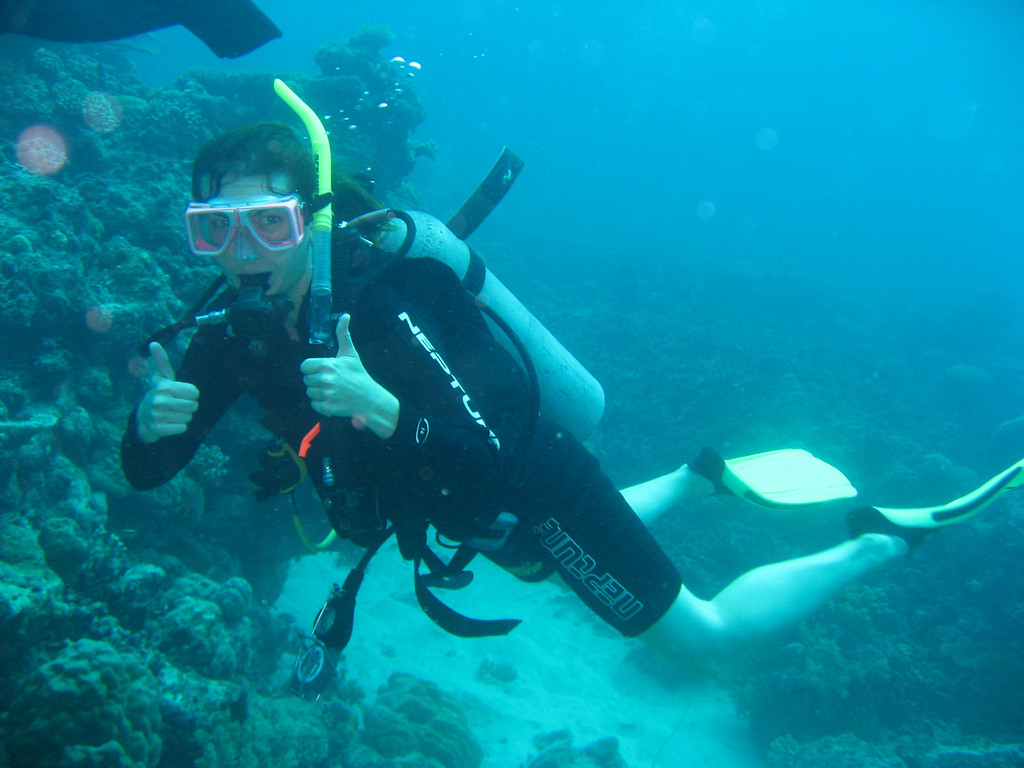 me diving on the Great Barrier Reef