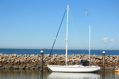 Yacht Redcliffe Jetty, Redcliffe, Queensland, Australia
