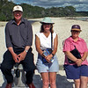 Brian, Robyn and Robyn at Greenpatch in Jervis Bay.