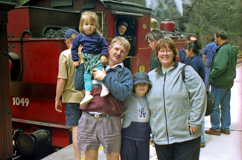 Kerry, Bill, Cloe and Laura at the Zigzag Railway near Lithgow in the Blue Mountains.