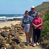 Robyn, Brian and Robyn on the coastal track at Garie Beach in Royal National Park.