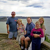 Russell with David, Marieta, Cleo and Freya at the lookout at West Head in the Ku-ring-gai Chase National Park.